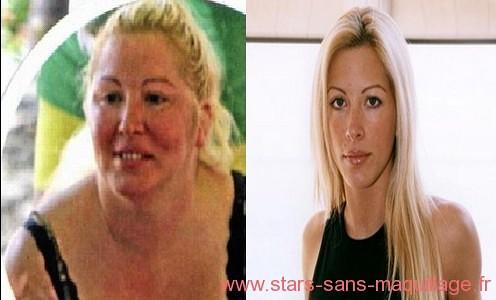 Loana grosse sans maquillage