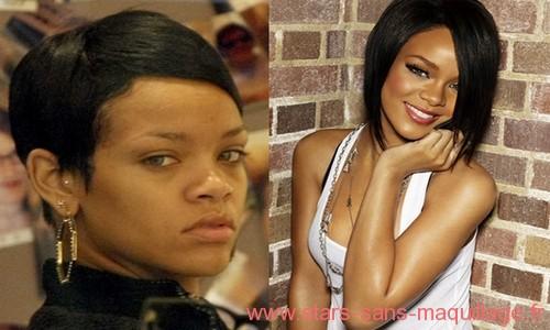 Rihanna sans maquillage