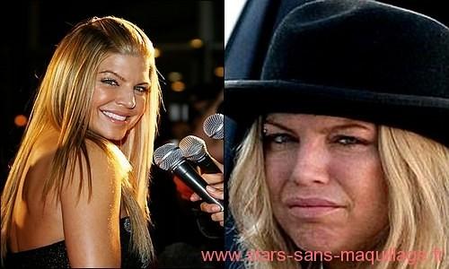 Fergie sans maquillage