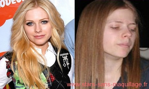 Avril lavigne sans maquillage