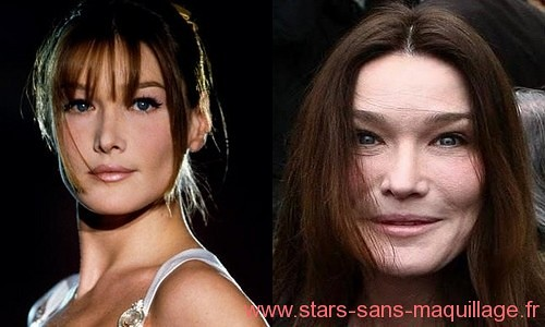 Carla Bruni sans maquillage