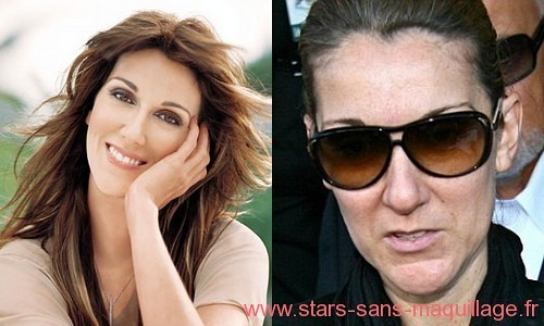 Celine Dion sans maquillage