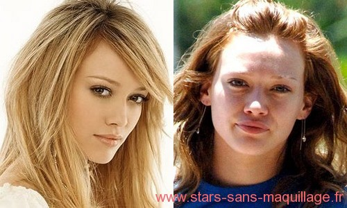 Hilary Duff sans maquillage