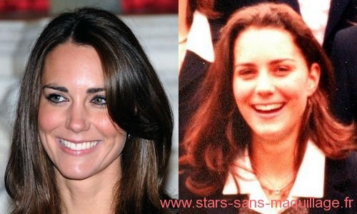 Kate Middleton sans maquillage