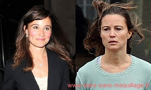 Pipa middleton sans maquillage