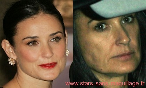 Demi Moore sans maquillage