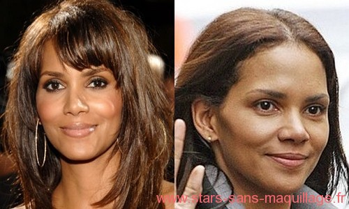 Halle Berry sans maquillage