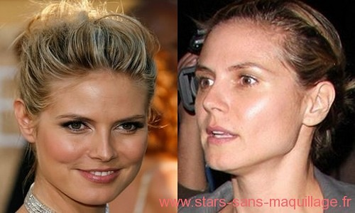 Heidi Klum sans maquillage