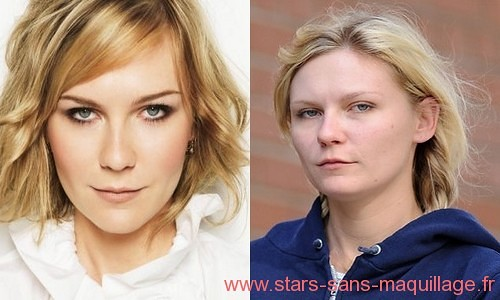 Kirsten Dunst sans maquillage