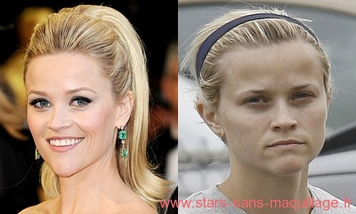 Reese Witherspoon sans maquillage