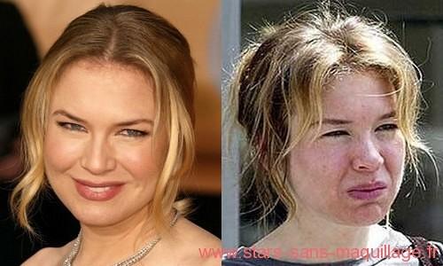 Renee Zellweger sans maquillage