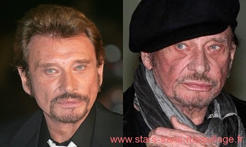 Johnny Hallyday sans maquillage