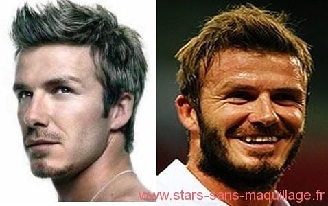David Beckham sans maquillage