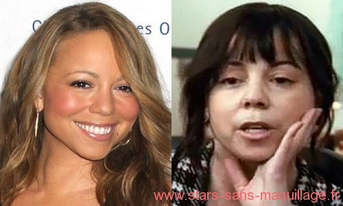 Mariah Carey sans maquillage