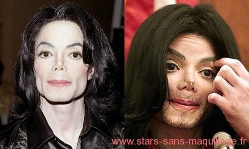 Mickael jackson sans maquillage