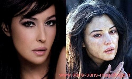 Monica Bellucci sans maquillage