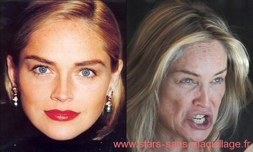 Sharon Stone sans maquillage