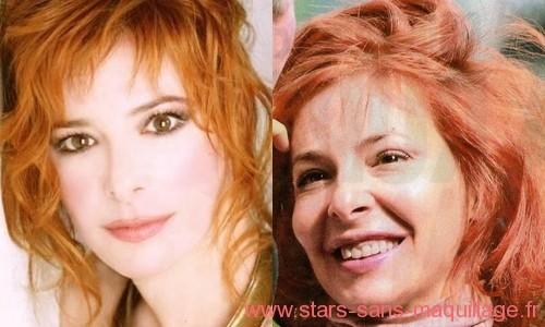 Milene Farmer sans maquillage