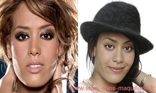 Amel bent sans maquillage