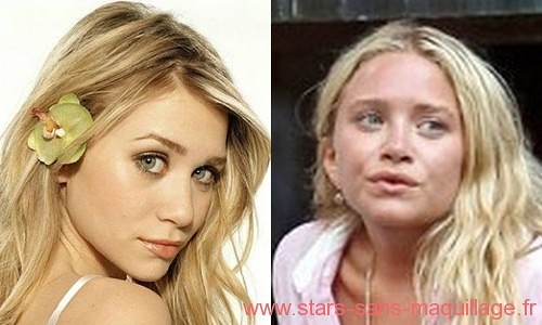 Ashley Olsen sans maquillage