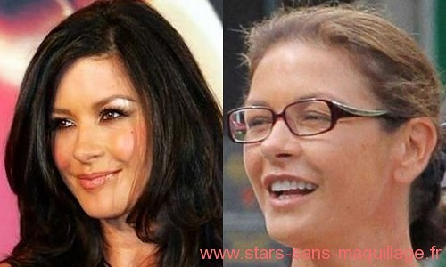 Catherine Zeta Jones sans maquillage