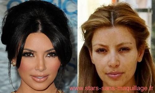 Kim Kardashian sans-makeup