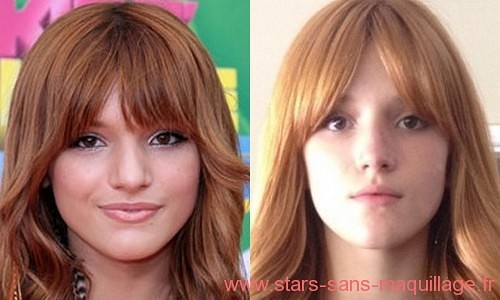 Bella Thorne  sans maquillage