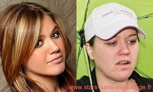 kelly clarkson sans maquillage