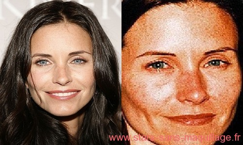 Courteney Cox sans maquillage