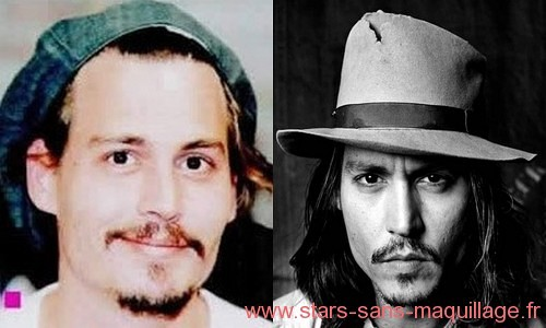 Johnny Depp sans maquillage