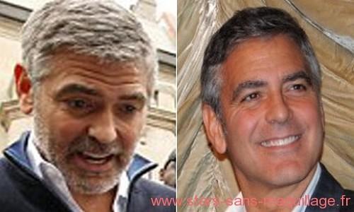 George Clooney sans maquillage