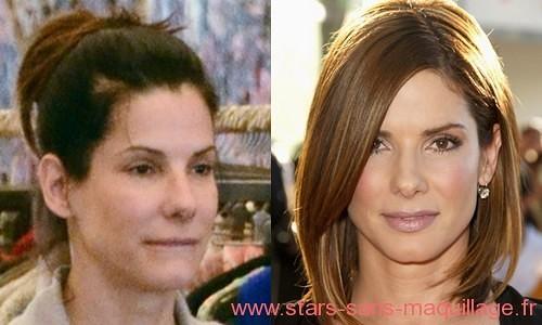 Sandra bullock sans maquillage