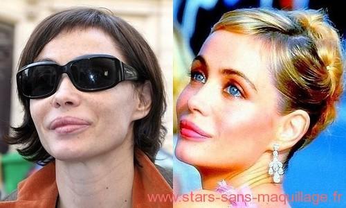 Emmanuelle Beart sans maquillage