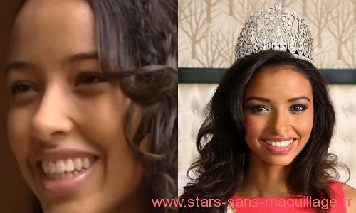 Miss France 2014 - Flora Coquerel sans maquillage