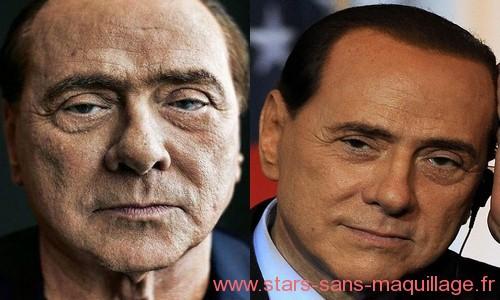 Sylvio Berlusconi sans maquillage