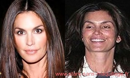 Cindy Crawford sans maquillage