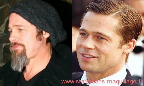 Brad Pitt au naturel