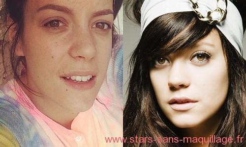 Lily Allen sans maquillage