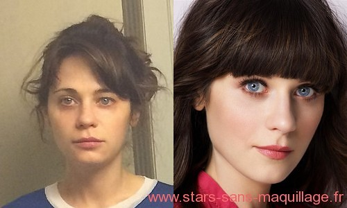 Zooey Deschanel sans maquillage