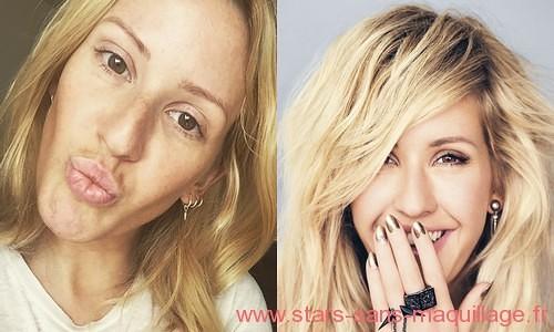 Ellie Goulding sans maquillage