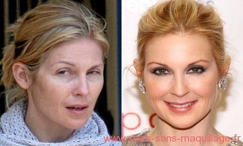 Kelly Rutherford sans maquillage