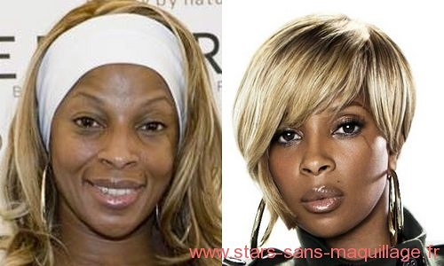Mary J Blidge sans maquillage