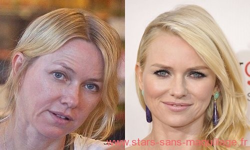 Naomi Watts sans maquillage