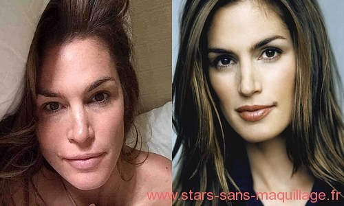Cindy Crawford sans makeup
