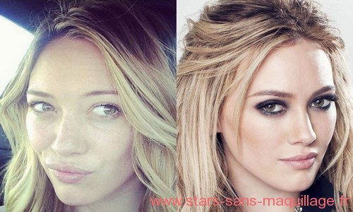 Hilary Duff sans Makeup