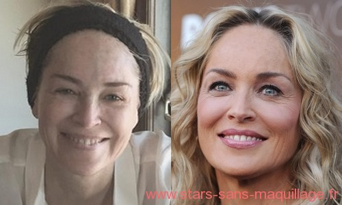 Sharon Stone sans makeup