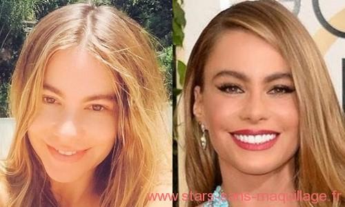 Sofia Vergara sans maquillage
