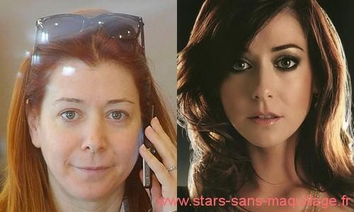 Alyson Hannigan sans maquillage
