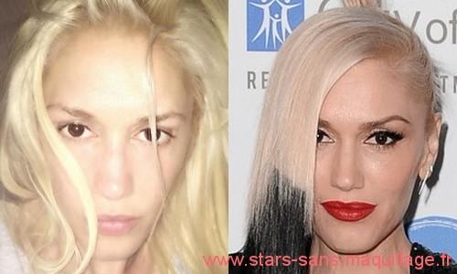 Gwen Stefani sans maquillage