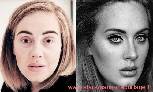 Photos de Adele sans make-up